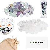 Eco-Fused Piedras de Cristal Pulidas Fluorita y Cuarzo – Piedras Naturales con Formas Ir...