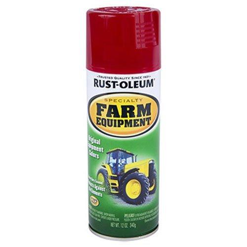 Rust-Oleum 7466830 Specialty Farm Equipment Spray Paint, 12 oz, International Red