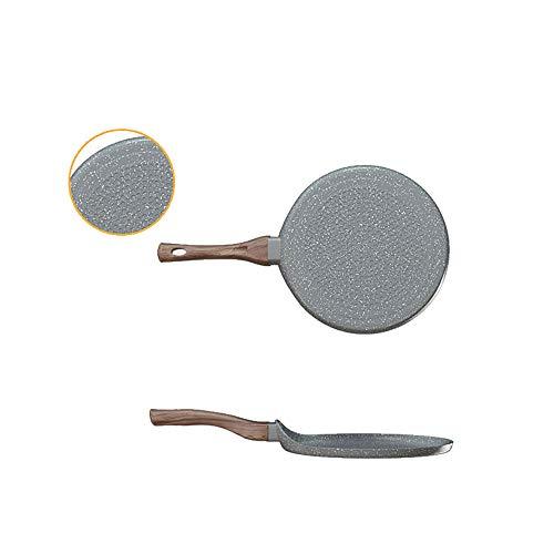 HARLIANGXY Padella per Pancake, a induzione, Diametro 18 cm, Colore Grigio Granito