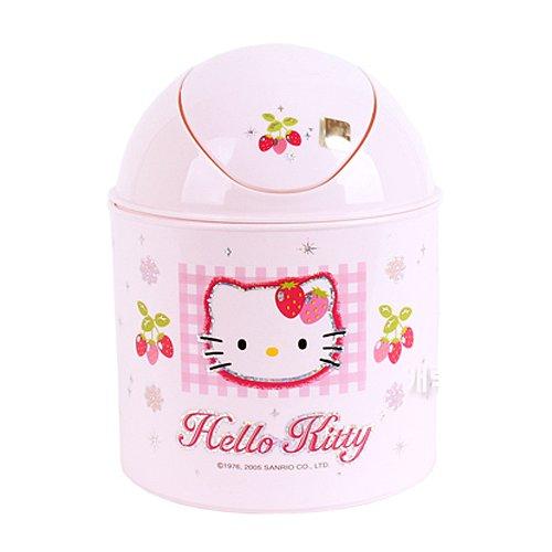 Hello Kitty (H-01) Trash Bin Wastebasket Lovely Swing Cover Garbage