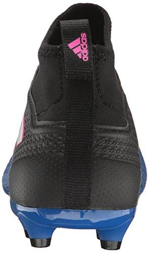 adidas Men's Ace 17.3 Primemesh Firm Ground Cleats Soccer Shoe, Black/White/Satellite, (10 M US)