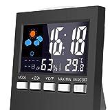 Guangcailun Reloj Despertador eléctrico de Escritorio de la Pantalla LCD Colorido del Sonido El Control de luz de Fondo Reloj Digital de Fecha y Hora del Reloj del Escritorio del Calendario
