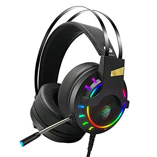 Auriculares de Juegos para PS5 PS4 Xbox Series X | S Xbox One Games PC Auriculares para Juegos de PC con 7.1 Sonido Envolvente Cancelación de Ruido Mic,7.1USB Interface
