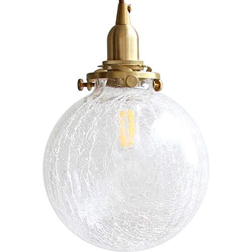Yyqx Lámparas Colgantes Agrietado Bola de Cristal de la lámpara Moderna Cocina del Restaurante-Bar Cabecera de Entrada de la Personalidad de la lámpara de latón Lámpara de Techo Colgante