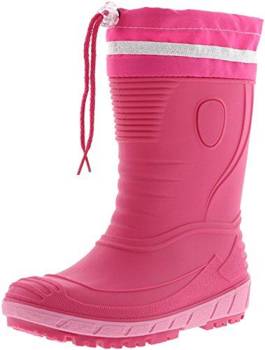 G&G Kinder Mädchen Gummistiefel Regenschuhe Nitrilgummi pink/rosa, Farbe:Pink, Größe:29