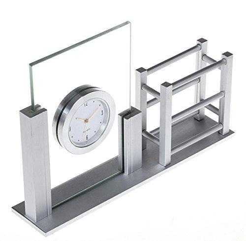LD&P Aluminium-Uhr-Dekoration-Hauptbank-Dekoration-handgemachter Fertigkeit-Geschenk-Schaukasten-Anzeigen-Stab-Dekorationen,A,19*4.1*13CM