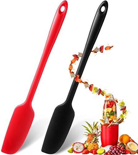 Long Handle Silicone Jar Spatula Non Stick Rubber Scraper Heat Resistant Spatula Silicone Scraper product image
