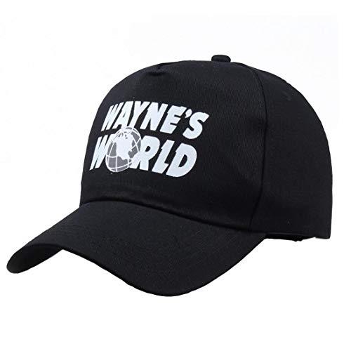 AGSHCQI Baseball Cap Adjustable Hat Cap Outdoor Sports Wear Printed Cotton Dad Hat (Adjustable, Black-1)