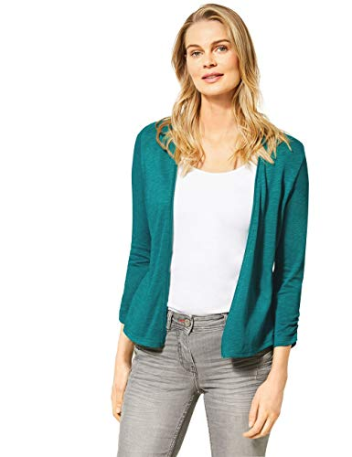 Cecil Damen 314841 T-Shirtjacket Strickjacke, vital Emerald Green, Medium