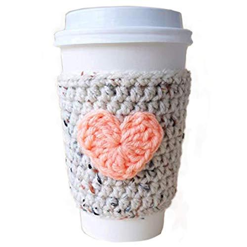 crochet coffee cup cozy - 7
