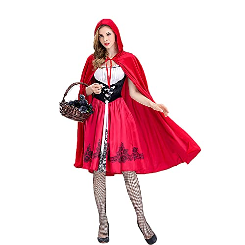 Gaclöz Women's Red Riding Hood Costume, Dress and Hooded Cape