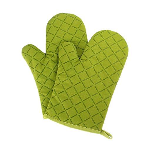 Premium Anti-Rutsch Ofenhandschuhe (1 Paar) bis zu 240 °C - Silikon Extrem Hitzebeständige Grillhandschuhe BBQ Handschuhe - Backofen Handschuhe, zum Kochen, Backen, Barbecue Isolation Pads (Grüne)
