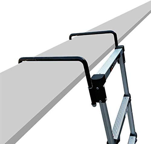 Taburete Las escaleras telescópicas, de aluminio resistente de extensión Ganchos Escaleras, Ingeniería...