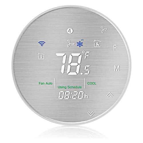 WiFi Thermostat intelligente Wärmepumpe Thermostat, Temperatur gebürsteten Metallplatte, verwenden Google mit Alexa