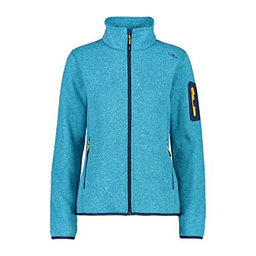 CMP Damen 3H14746_09LG_46 Strick Fleece Jacke, blau
