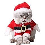 Vestiti dell animale Domestico di Natale Vestiti Svegli del Gatto del Cane di Babbo Natale Vestiti dell animale Domestico di Natale con Il Cappello della Santa