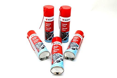 5x 500ml Würth Silikon Spray Kunststoff Gummipflege Gleitmittel Trennmittel Wartung