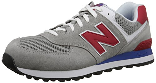 New Balance NBML574MOX Sneaker, Uomo, Grigio (Grey/Red), 41.5