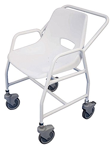 Aidapt Fixed Height Hythe Mobile Shower Chair with Two Brakes (Eligible for VAT relief in the UK)