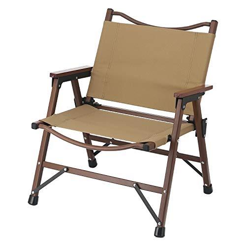 不二貿易 折りたたみ椅子 アウトドアチェア ローチェア 軽量 コヨーテ 水洗い可能 耐荷重80kg シュミット 37980
