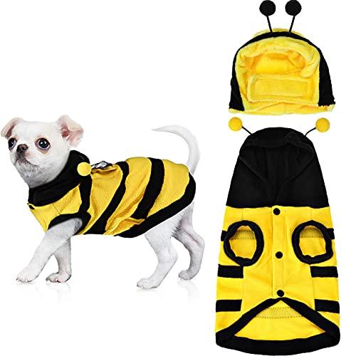 Xuniea 2 Pieces Halloween Bee Pet Costume Cute Bee...