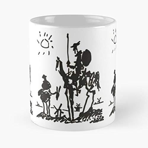Art Spain Escobar Ink Spanish Artist Don Quijote Pablo Best Taza de café de cerámica de 325 ml