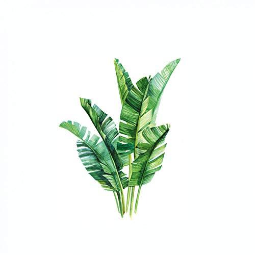 YCEOT groene plant muursticker Diy pioenroos bloemen strand tropische palmbladeren muursticker moderne kunst vinyl sticker muurschildering