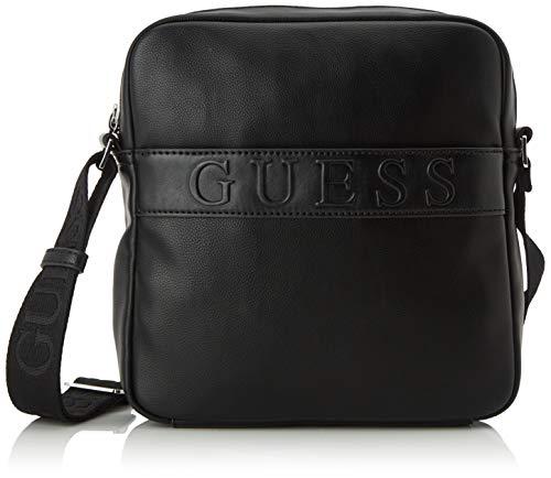 Guess Heren Dan Crossbody Top Zip schoudertas, zwart (zwart), 5 EU