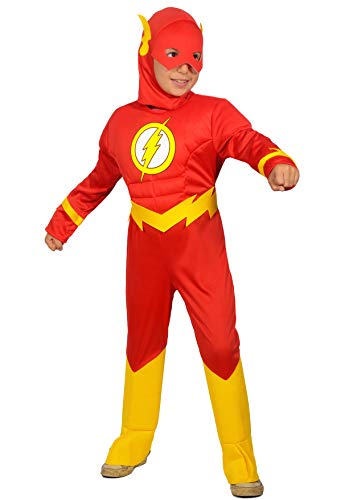 Ciao-The Flash Disfraz para niño original DC Comics (Talla 3-4 años), color rojo, 11681.3-4