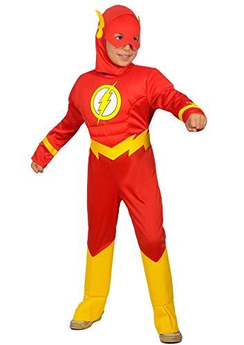 Ciao-The Flash Disfraz para nio original DC Comics (Talla 3-4 aos), color rojo, 11681.3-4