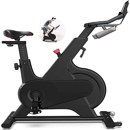 FXLYMR Mirror Montado en la Pared Decorativo Ciclo Interior Bicicleta, Smart Spinning Bike Control Magnético Inicio Ultra-Silencioso Pérdida de Peso Equipo de Aptitud Ejercicio Bicicleta, Regalo,Negr