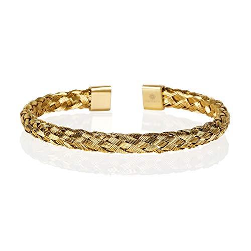 namana Bracelet Jonc Or pour Homme. Bracelet Homme Or avec...