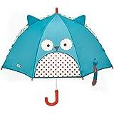 Skip Hop Zoo Regenschirm, für Kinder, mit Sichtfenster und 3D-Ohren, mehrfarbig, Eule Otis