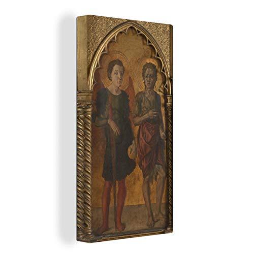 Leinwandbild - Sankt Michael & Johannes der Täufer - Gemälde von Jacopo di Antonio - 40x80 cm