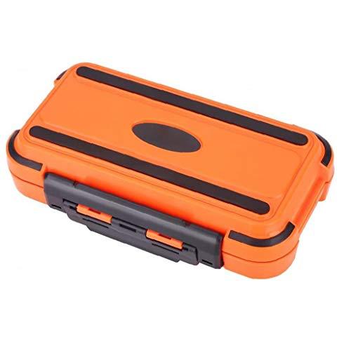 YepYes Tackle Angeln Boxen Lagerung Köder Organizer mit herausnehmbaren Einteilungen Wasserdicht Tabletts (orange M)