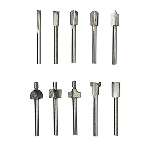 Brocas de enrutador HSS de vástago de 3 mm, brocas para carpintería de 1/8 pulgadas para herramienta rotativa