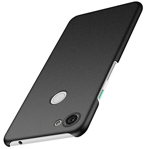 Anccer Cover Google Pixel 3A, [Alta Qualità] [Ultra Slim] Anti-Scratch Hard PC Case Custodia per Google Pixel 3A (Ghiaia Nera)