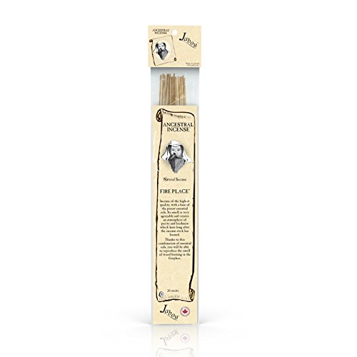 Jabou Ancestral 100% Natural Hand Dipped Incense Sticks - Fire Place Aroma - for Meditation, Yoga, Relaxation, Magic, Healing, Prayer & Rituals - 11 inch - 60 Minutes - 20-Pack