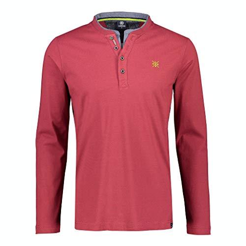LERROS Herren Serafino Fineliner Henley-Hemd, CAMINE RED, XXXL