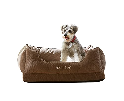 iComfort Cuddler Pet Bed with Cooling Comfort Gel...