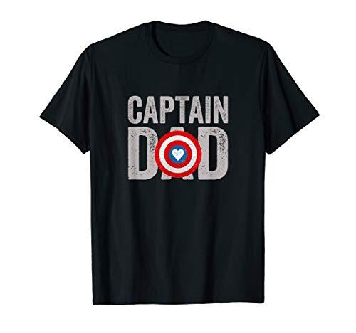 Herren Super Hero Captain Dad Geschenk Papa Superheld T-Shirt