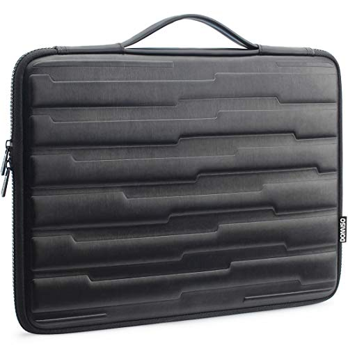 DOMISO 14 Inch Shock Resistant Laptop Sleeve with Handle Protective Case Compatible with 14' Lenovo ThinkPad A485 / HP ProBook 640 G4/645 G4 / Dell New Inspiron 5481/14' Acer Swift 3, Black