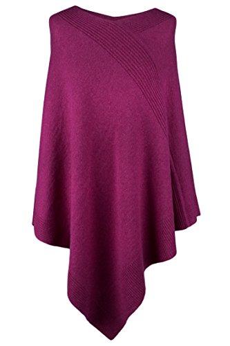 Love Cashmere Women's 100% Cashmere Poncho - Fuchsia Pink - Made in Scotland RRP $600