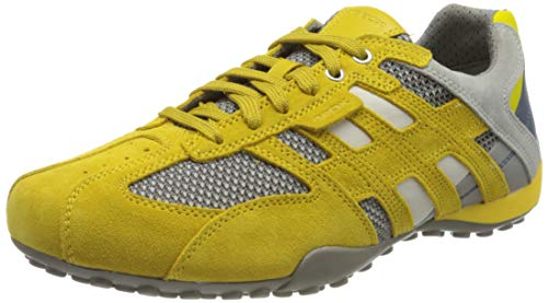 Geox Herren UOMO SNAKE E, Gelb (Dk Yellow/Lt Grey C2g1l), 44 EU