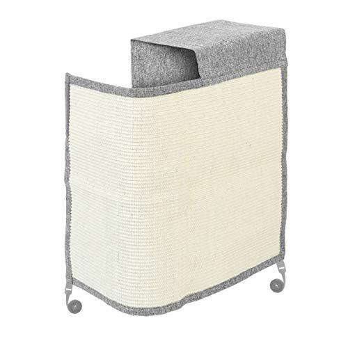Navaris Rascador para Gatos - Protector para Esquina de sofá o sillón - Afilador de uñas de sisal para Mascotas - para el Lado Izquierdo en Gris