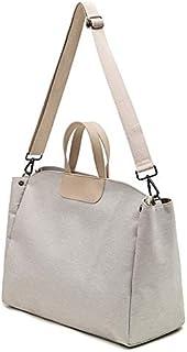 Luggage & Bags Oxford Cloth Magnetic Buckle Handbag One Shoulder Laptop Bag File Bag, Suitable for Laptop Size: 15.6 inch(Grey) (Color : Beige)