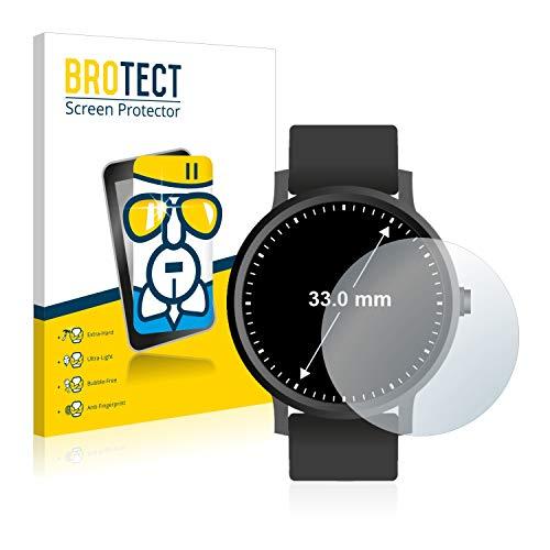 BROTECT Panzerglas Schutzfolie kompatibel mit Armbanduhren (Kreisrund, Durchmesser: 33 mm) - AirGlass, extrem Kratzfest, Anti-Fingerprint