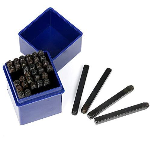 FreeTec 36pcs Juego de Punzonado de Números y Letras de 4 mm