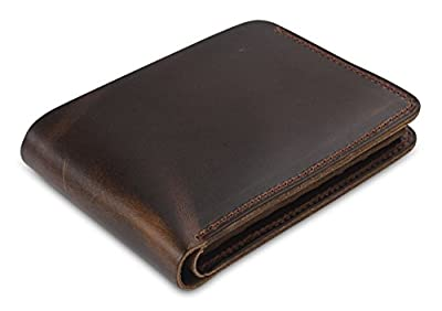 Secret Felicity Men's Genuine Leather Bifold Wallet,Entirely Handmade (SF1001)