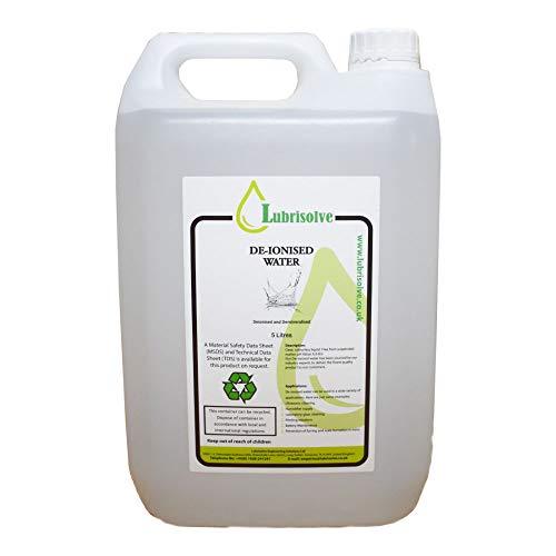 10 litros de agua desionizada / desmineralizada (10 litros)